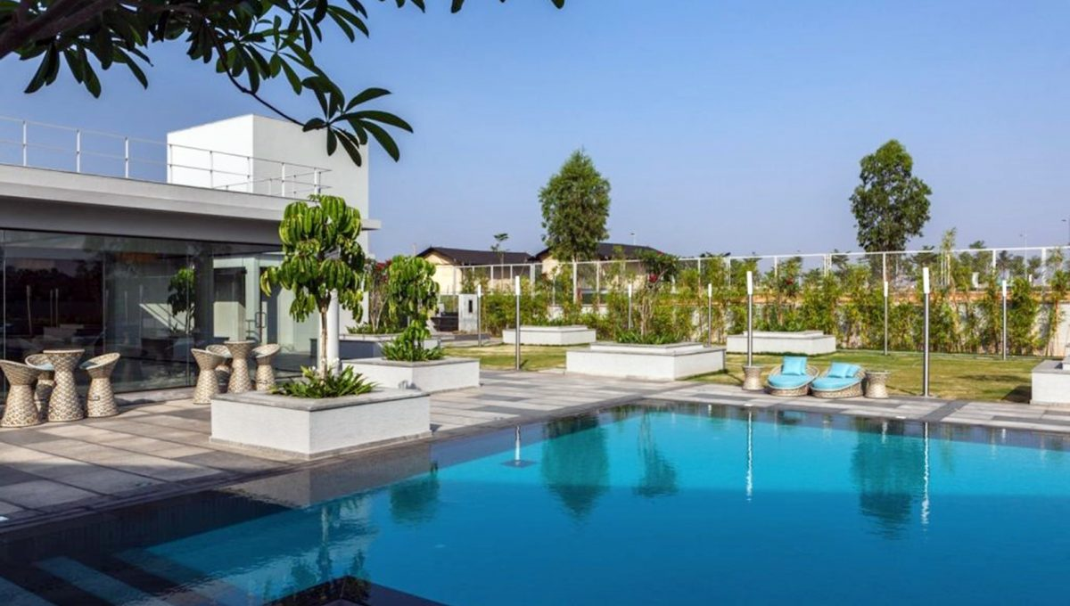 Gated community with luxury amenities