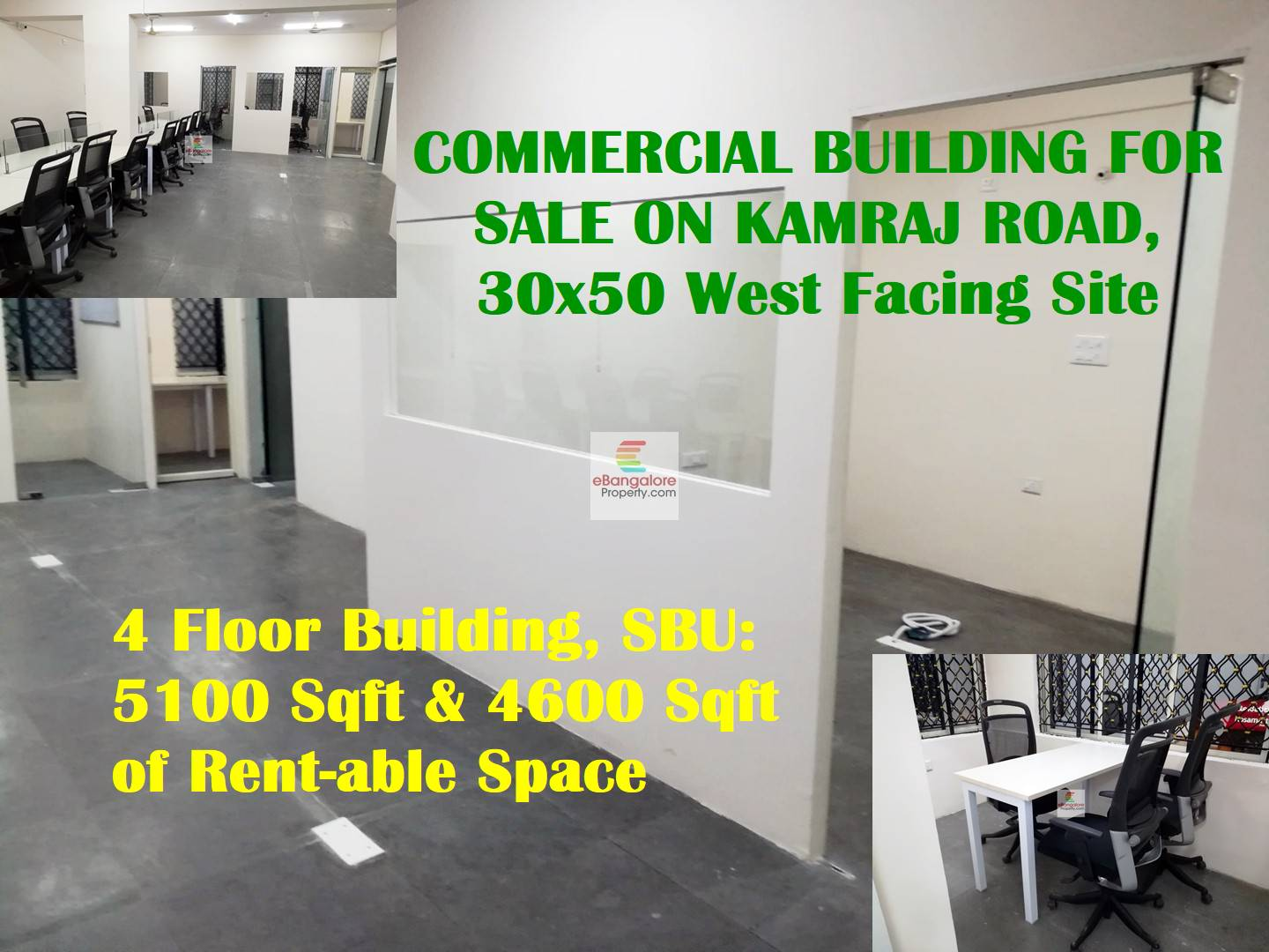Kamraj Road – Commercial Building for Sale on 30×50 Plot – 4600 Sqft of Rentable Space