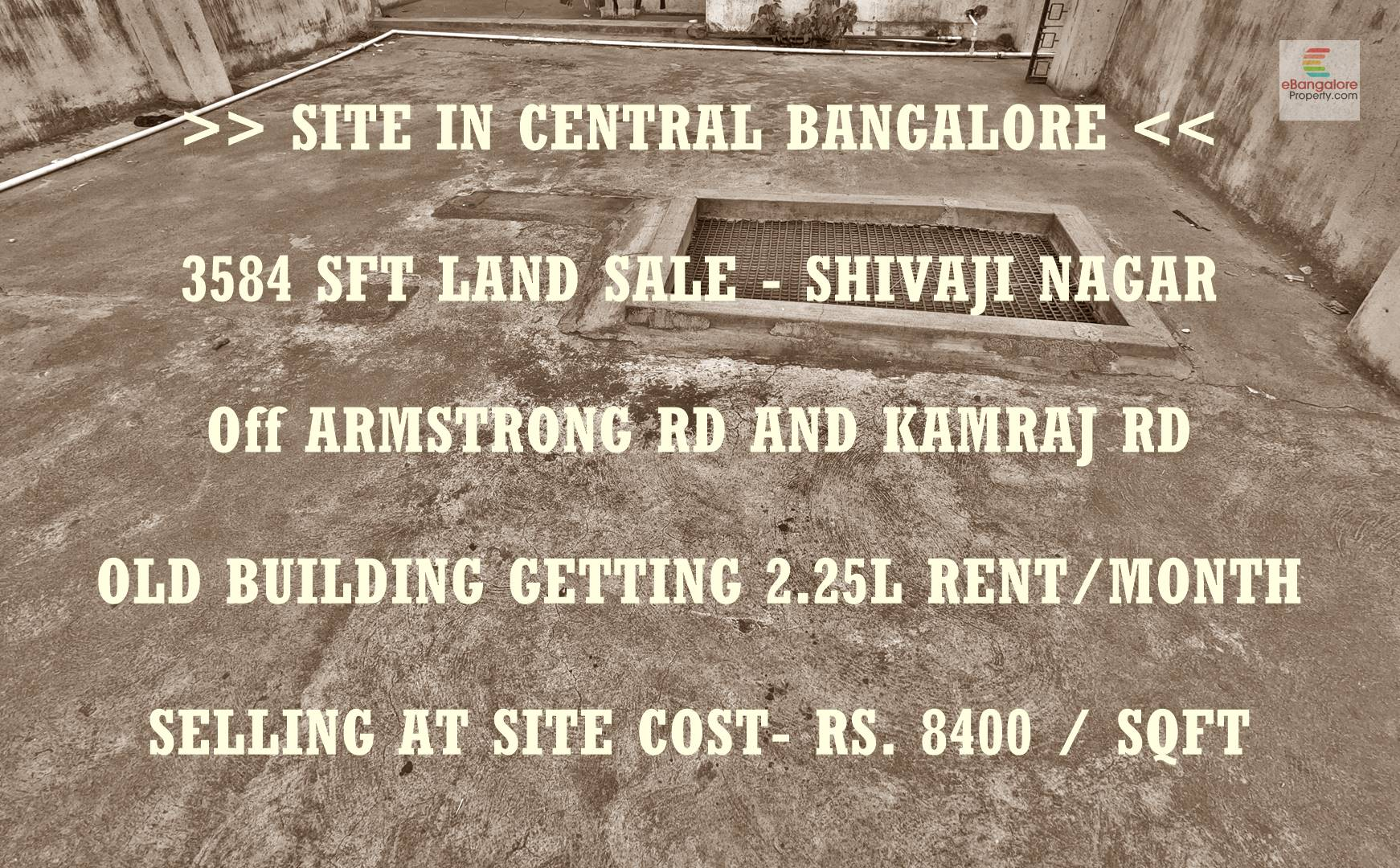 Shivajinagar Off Armstrong Road – 3584 Sqft Land For Sale With Old Building – 2.25 Lakh Ongoing Rental Income