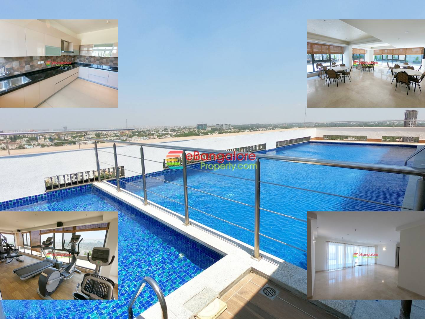 Frazer Town – 3BHK Premium Apartment For Sale in a Prestige High Rise – With Rooftop Swimming Pool