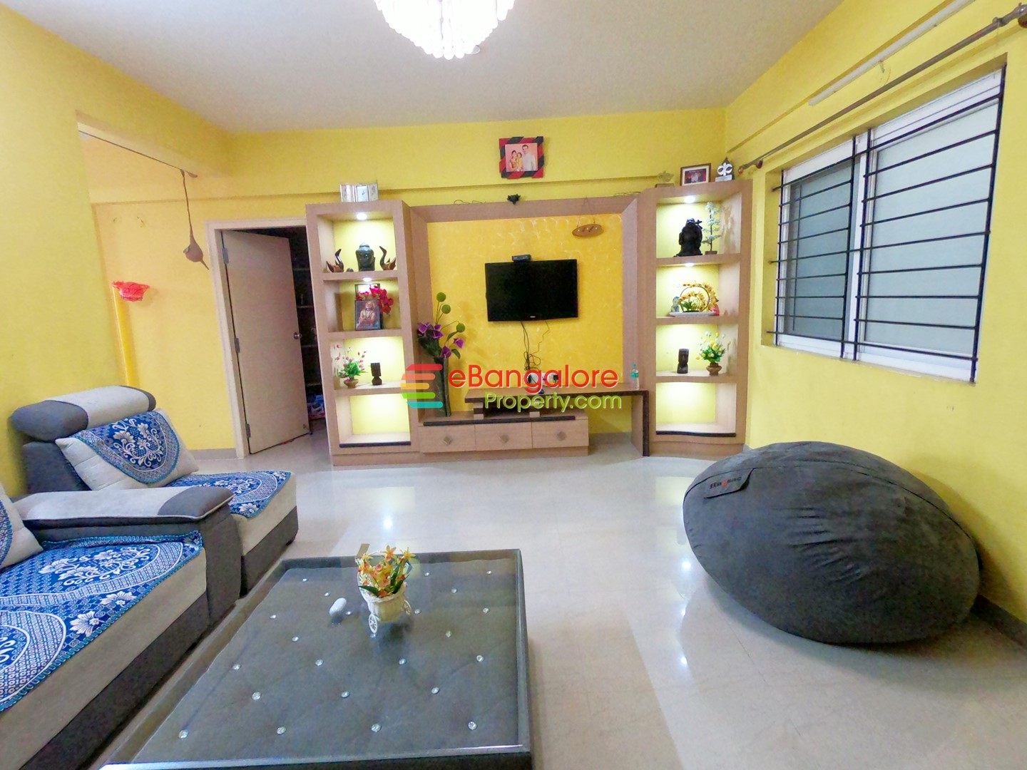 Hebbal BEL – 2BHK Semifurnished A Khata Flat For Sale – With All Amenities