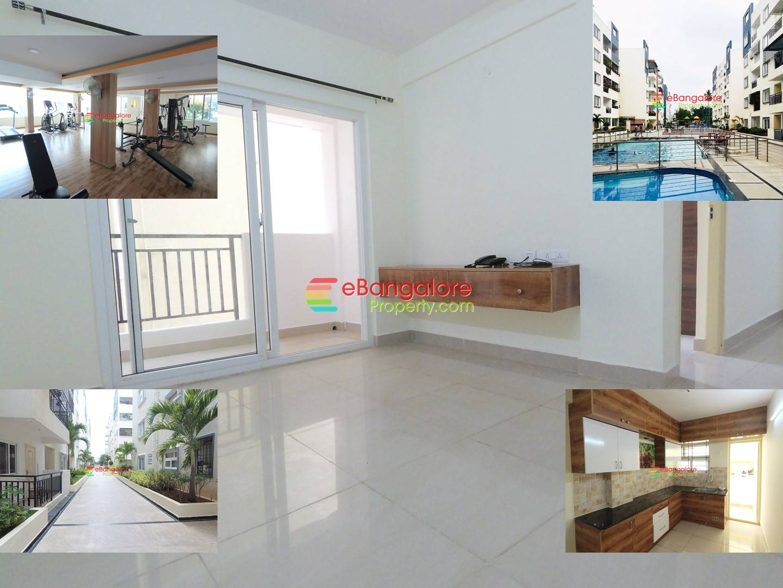 Kudlu Hosur Road – 2BHK Semifurnished Flat For Sale with All Amenities – A Khata/OC/CC