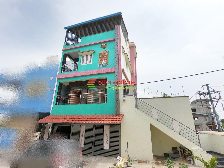 Kengeri – 4BHK Corner Duplex House Plus 5 Shops For Sale on 41×36 – Semi Commercial