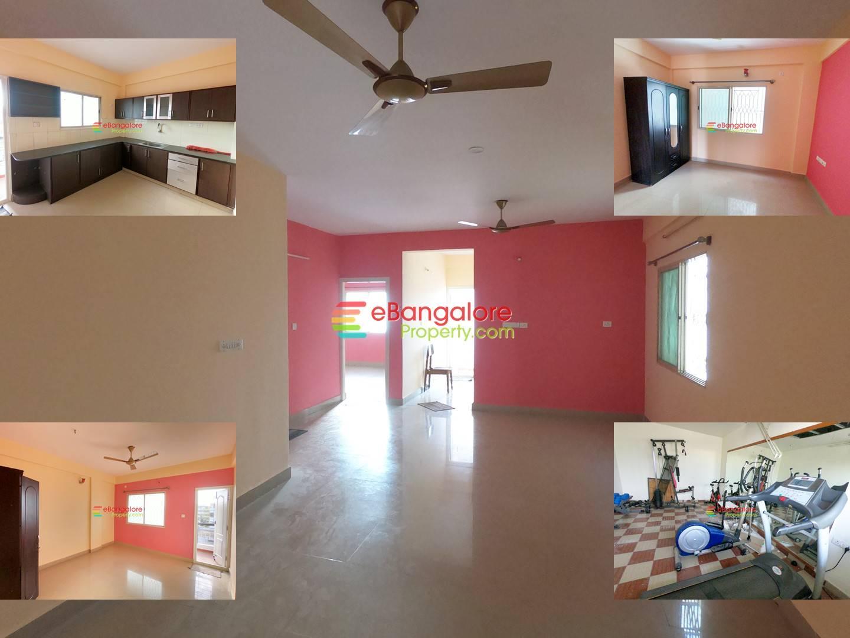 Hoodi Ayyappa Nagar – 2BHK Semifurnished Flat For Sale – East Facing